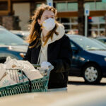 protective mask pandemic covid-19 groceries